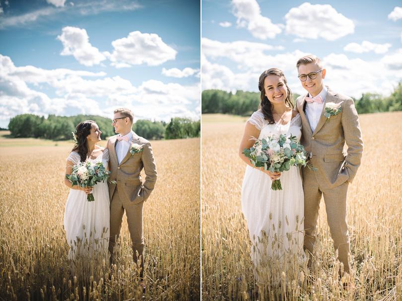 Bröllopsfoto fält