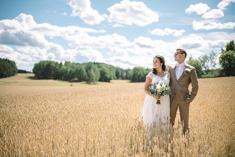 Bröllopsfoto fält Östergötland