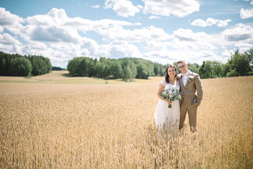 Bröllopsfoto öppet fält